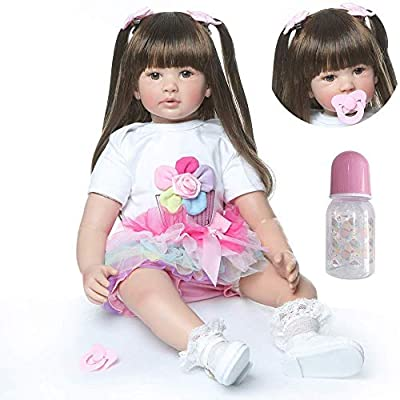 Zero Pam Reborn Baby Dolls Girls 24 inch Real Life Silicone Vinyl Bebe Reborn Toddler Dolls Realistic with Pacifier Newborn Baby Gifts Toys for Kids: Toys & Games [5Bkhe1102368]