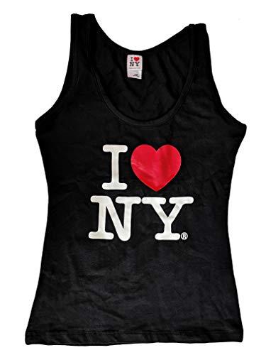 I Love NY Tank Top Ladies Heart Logo Womens New York City Summer (Black, XL) ()
