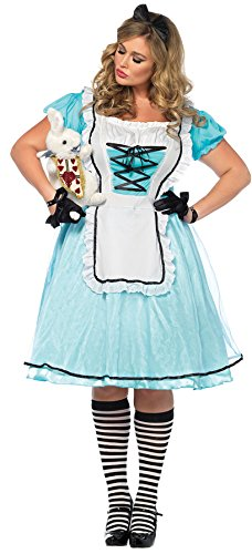 UHC Women's Tea Time Alice in Wonderland Outfit Fancy Dress Plus Size Costume, 1X/2X (16-18) (Tea Time Alice In Wonderland Costume)