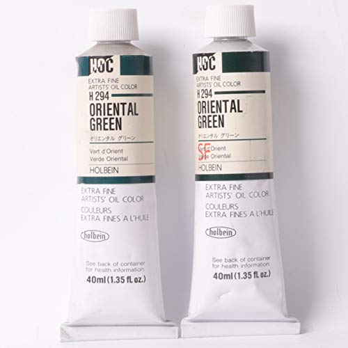 Holbein Oil Color 40ml Tubes Oriental Green - 2 in 1 Pack