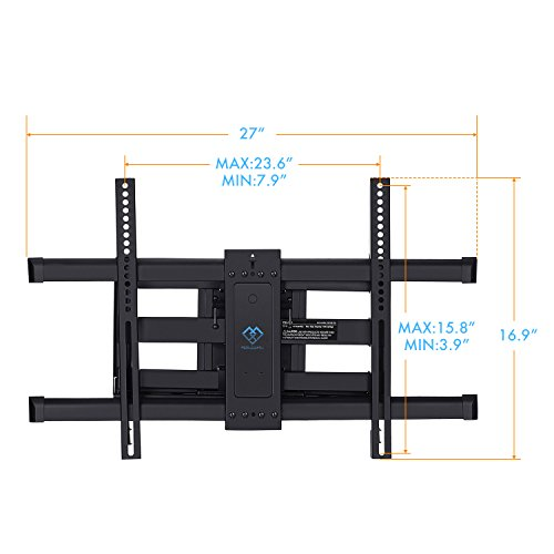 perlesmith tv wall mount bracket full motion dual articulating arm for most 37 70 inch led lcd. Black Bedroom Furniture Sets. Home Design Ideas