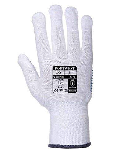 Portwest Polka Dot Glove WhBlu M R