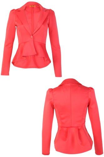 Femme de tailleur Pink Coral Veste My1stWish OBSt7