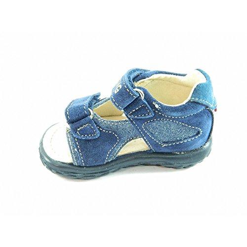 Naturino  148 VELOUR/TELA WASHED, Sandales pour garçon Bleu Bleu 19
