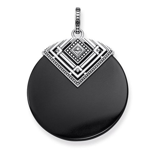 THOMAS SABO Damen-Anh/änger 925 Silber Onyx Mehrfarbig PE749-698-11
