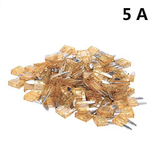 Fuses Trade 100 Auto Car Fuse Assortment 5 Amp Standard Blade Type car-Styling Replacement Parts 2017 Drop Shipping