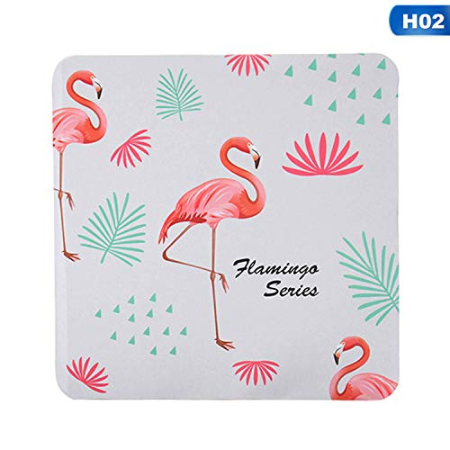 Ctr Cup Pull - Cactus Flamingos Coaster Coffee Cup Mat Tea Pad Dining Decoration Accessories Quick-drying Water Absorption Diatomite Cup Mat,02