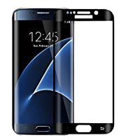 ALCLAP Galaxy S7 Tempered Glass Screen Protector Anti-Glare Full Coverage,Replacements - Premium Bubble-Free HD Film with Anti-Fingerprint Coating Black by ALCLAP