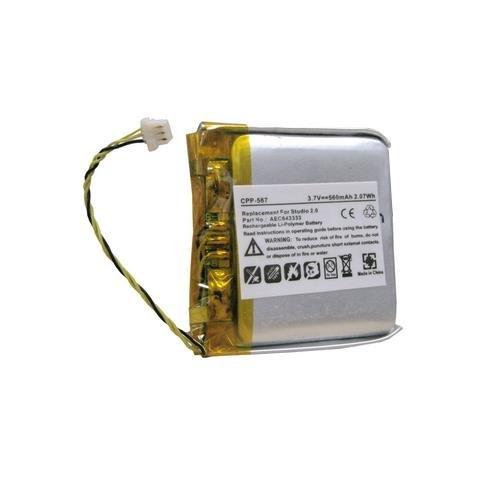 Beats By Dr Dre Studio 2.0 Cordless Phone Battery Li-Pol, 3.7V, 560 mAh, Ultra Hi-Capacity Battery - Replacement Battery for Beats By Dr Dre AEC643333 Cordless Phone Battery