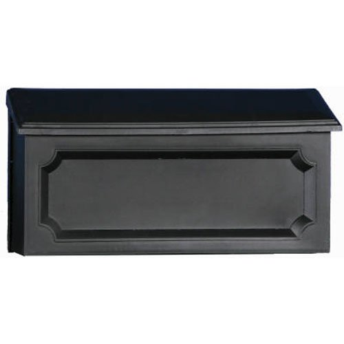 Gibraltar Mailboxes Windsor Medium Capacity Rust-Proof Plastic Black, Wall-Mount Mailbox, -