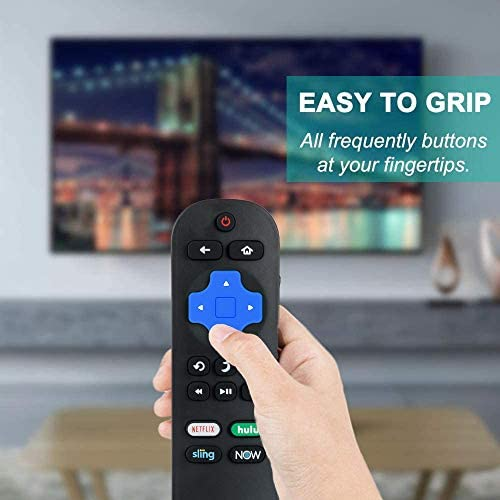 Replacement LC-RCRUS-20 Remote Compatible with Sharp Roku TV LC-50LBU591U LC-50LBU711U LC-55LBU591U LC-55LBU711U LC-43LBU591U LC-32LB601U LC-24LB601U LC-50LB601U LC-40LB601U LC-65Q7370U LC-43LB601U