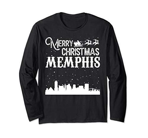 Merry Christmas Y'all Memphis City Long Sleeve shirt