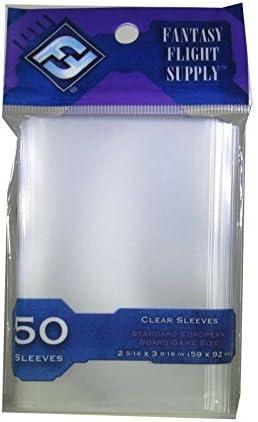 FFG EU Standard European 50 Clear Sleeves 59x92 Board Game Hüllen FFS04 Lila