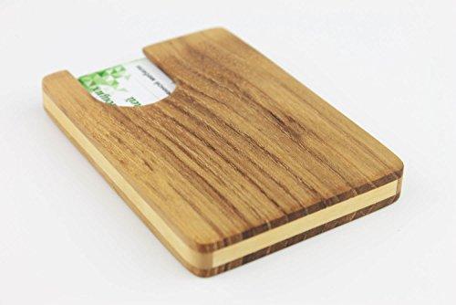 Hochwertiges Visitenkartenetui Aus Holz Akazienbaum