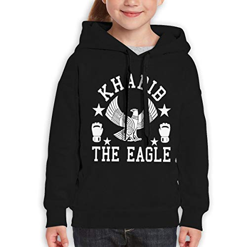 Onetwoonethree Youth Khabib The Eagle Nurmagomedov Cool Sweater for Boys and Girls 31 Black