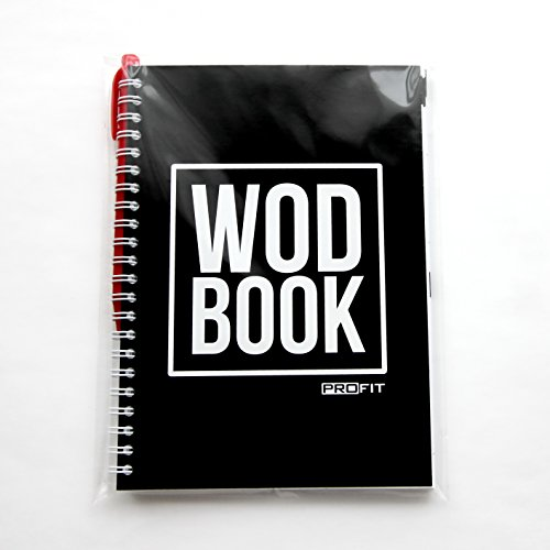 WODBOOK Training Journal by ProFit - Cross Training Tracking Journal - Created and Designed to Track Your Strength, Conditioning and Skills - 140 Pages / 200 WODs / Wire-Bound / 6x8 in / Pen Included