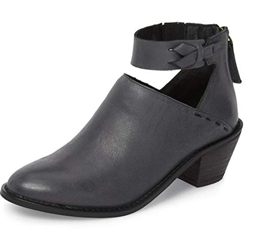 FIRENGOLI Mid Womens Ankle Boots Mid FIRENGOLI Chunky Heel Booties with Zipper B07GVQTKQ4 Shoes ced607