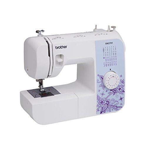 Brother XM2701 Lightweight, Full-Featured Sewing Machine with 27 Stitches, 1-Step Auto-Size Buttonholer, 6 Sewing