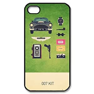 007 James Bond Classic Cool Movie Custom Hard Plastic Back Case Cover for iPhone 4 4s