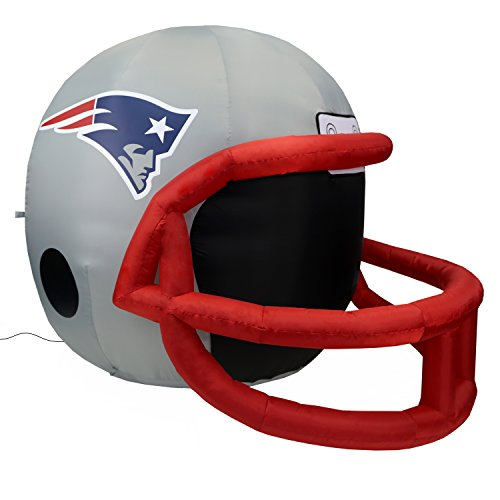 NFL New England Patriots Team Inflatable Lawn Helmet, Gray, One Size