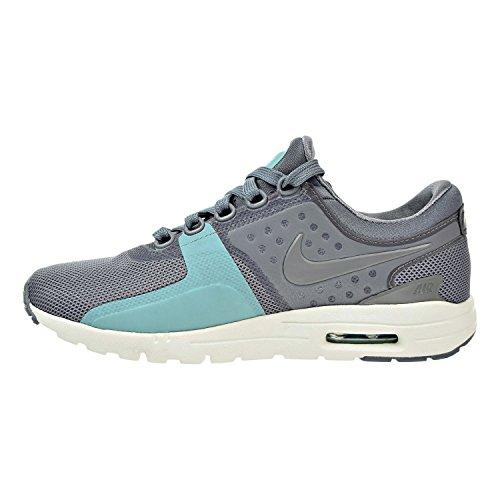 Nike Womens Air Max Zero Scarpa Da Corsa Cool Grey / Sail / Lavato Verde Acqua