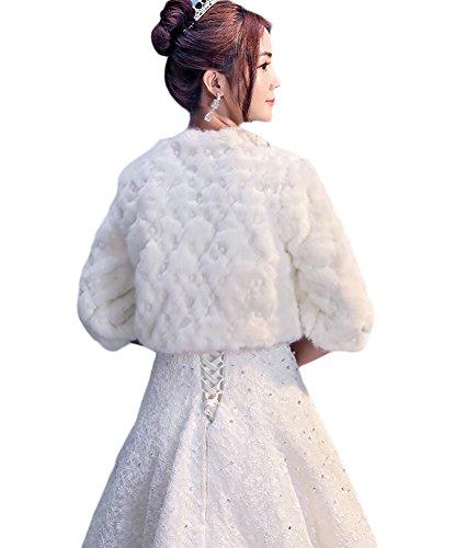 Avorio Donne Inverno Avvolgere Scialli 1 Capispalla Festa Scialle pelliccia Eco Insun Moda Wedding Caldo Elegante Ownq1g1dx