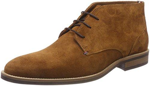 Tommy Hilfiger Essential Suede Boot, Scarpe Stringate Oxford Uomo Marrone (Cognac 606)