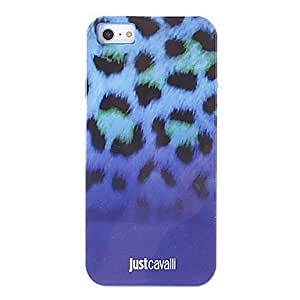 Fashionable Leopard Print Pattern Blue Smooth Anti-shock Case for iPhone 5/5S