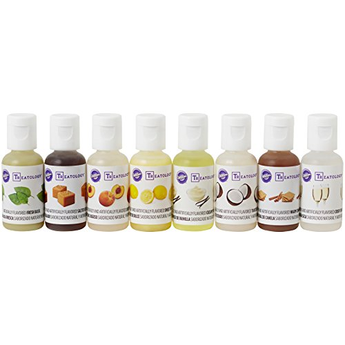Wilton Treatology Flavor Extracts Kit, 8-Piece Food Flavoring