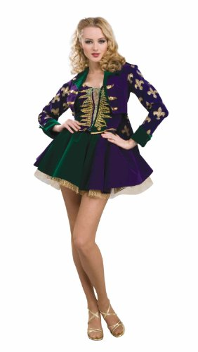 Forum Designer Collection Mardi Gras Sexy Maiden Adult Costume, Green/Gold/Purple