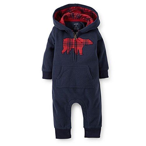 Carters Applique Hooded Fleece Jumpsuit