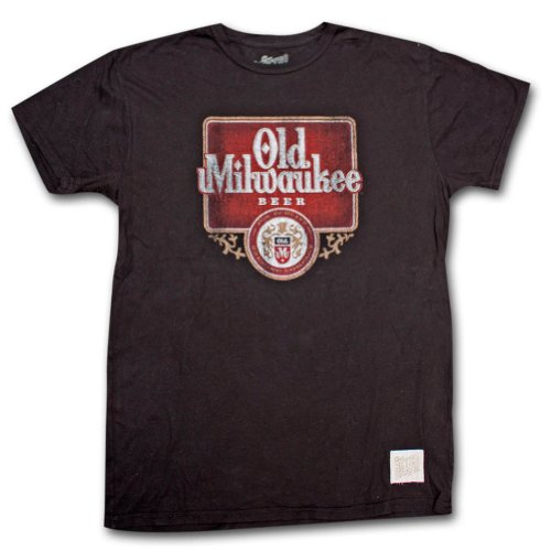 (Old Milwaukee Distressed Vintage Retro T Shirt Large )