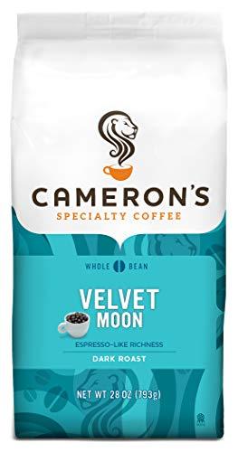 Cameron's Coffee Roasted Whole Bean Coffee, Velvet Moon Espresso Roast, 28 Ounce