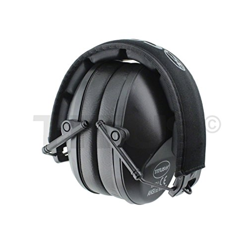 TITUS Low-Profile 34 Decibel NRR Safety Earmuffs (No Pouch, Black) by Titus (Image #6)