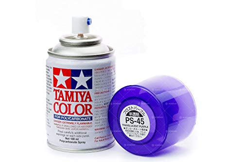 Tamiya 86045 PS-45 Polycarbonate Spray Translucent Purple 3 oz