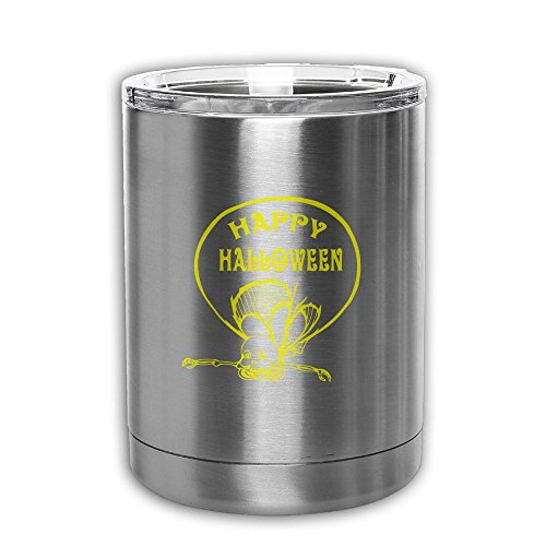 Double Walled Stainless Steel Tumbler, Vacuum Insulated Happy Halloween Travel Mug - For Home, Office, School – For Ice Drink & Hot Beverage - Perfect Gift (Halloween Drink Labels Printables)