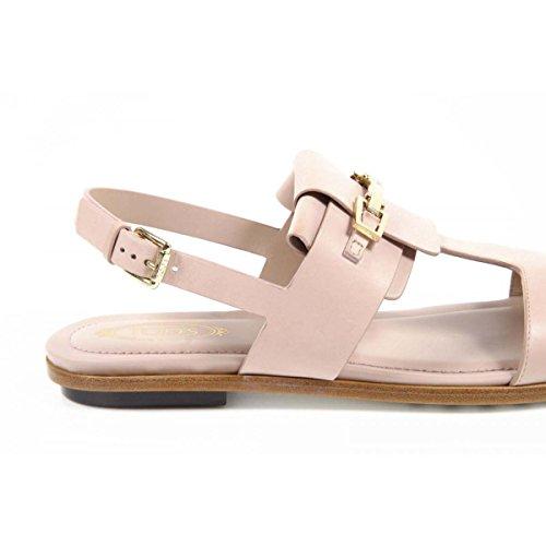 Tods Ladies Flat Sandal XXW0TK0M270D90M003