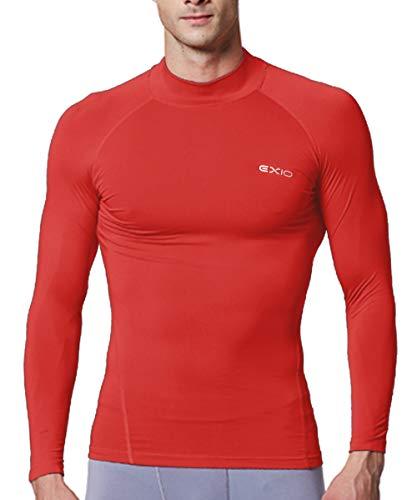 EXIO Japan Men's Mock Turtleneck Compression Shirt Cool&Dry Baselayer Top EX-T02 (Medium, ()
