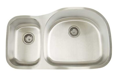 Artisan AR 3521 D97R-D Premium Collection 16-Gauge 35-Inch Undermount Double Basin Large Right Stainless Steel Kitchen Sink by Artisan