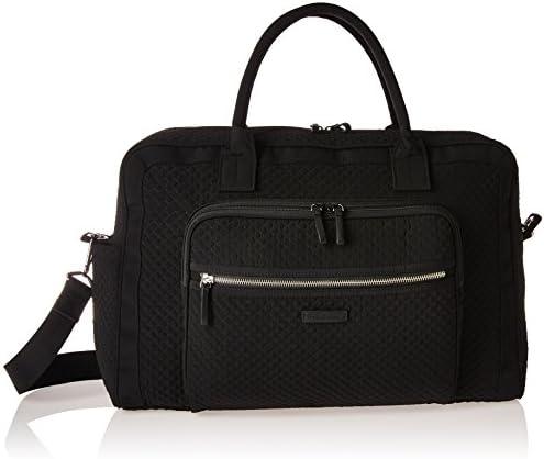 Vera Bradley Women s Microfiber Weekender Travel Bag, Classic Black, One Size