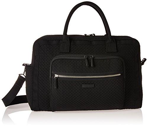 Vera Bradley Women's Iconic Weekender Travel Bag Vera (Black Weekender)