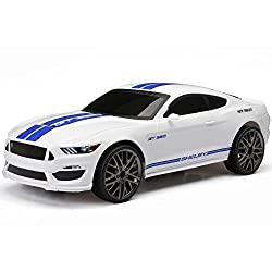 New Bright Shelby Mustang Gt 350 (White) Full Function Rc Vehicle Chargers - Includes Usb For Charging - All Batteries Included 1:15 Scale