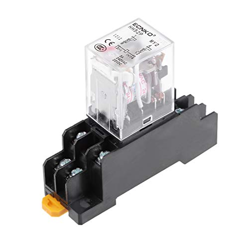 uxcell HH52P AC 24V Coil DPDT 8 Pins Electromagnetic Power Relay Red LED with ()