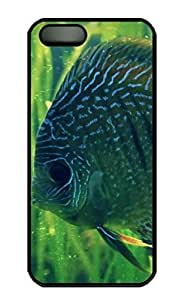 Rosesea Custom Personalized iPhone 5 5S Case, Lonely Fish Personalized Protective Hard PC Black Edge Durable Case Cover for iPhone 5 5S