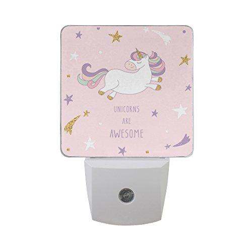 Saobao - Luz de noche LED con dibujos animados, diseño de unicornio y cielo estrellado, ideal para...