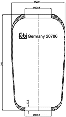 front axle both sides, rear axle both sides febi bilstein 20786 air spring without piston Pack of 1