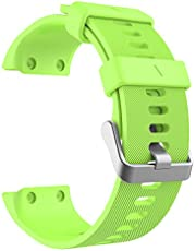MoKo Watch Band Compatible with Forerunner 35, Soft Silicone Watch Band Sport Bracelet Strap with 6pcs Screws and 2pcs Screwdrivers for Forerunner 35 GPS Running Smartwatch, Green