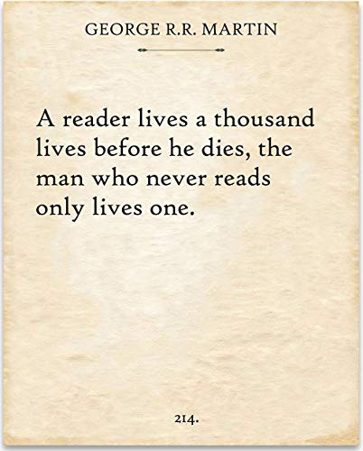 George R. R. Martin - A Reader Lives - 11x14 Unframed Typography Book Page Print - Great Gift Under $15 for Book Lovers