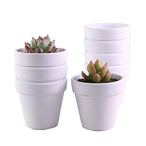 Terra Cotta Pots 3 1 Inch 10 Pack Yikush Clay Pot