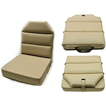 """Black Gray or Tan Bottom Only 3/"""" Thick Aircraft Seat Cushion by AeroPhoenix"""